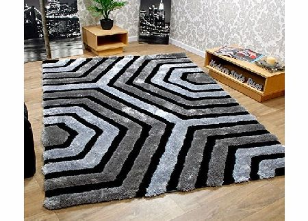 Modern Style Rugs *** CHOICE OF 7 COLOURS *** Luxury Modern amp; Contermporary Hand Carved Rugs - Green Orange Brown Beige Purple Black Grey Teal Blue Cream Soft Touch 30mm Polyester Pile - 2 Extra Large Room Sizes product image