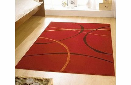 Modern Style Rugs Contemporary Retro Red Modern Large Wilton Rug 120cmx160cm product image