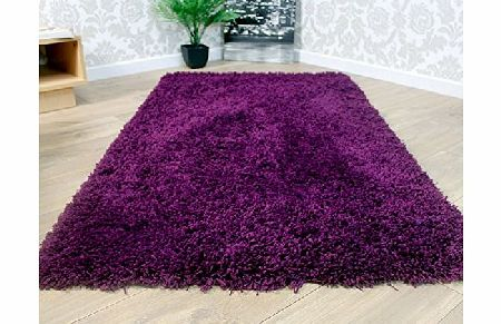 Modern Style Rugs Thick Non Shed Luxury Purple Grape Shaggy Shag Pile Modern Floor Rug 80x150cm (2ft 6 x 5ft) product image