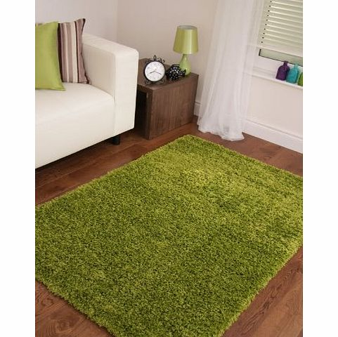 Modern Style Rugs VIBRANT GREEN SOFT LUXURY SHAGGY RUG 5 SIZES AVAILABLE 200cm x 290cm (6ft6 x 9ft6) product image