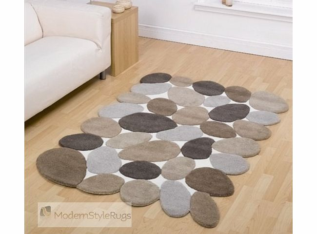 Mondern Style Rugs Pebble Brown Beige And Cream Large Modern Designer Floor Wool Rugs. 5 SIZES AVAILABLE product image