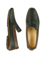Aiaccio - Black and Brown Deer Leather Driving Shoe
