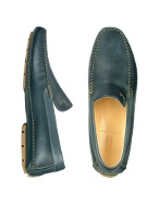Aiaccio - Navy Blue Deer Leather Driving Shoe