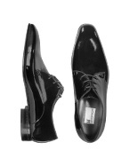 Salzburg - Black Patent Leather Lace-up Evening Shoes
