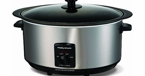 Morphy Richards Accents 48705 Sear and Stew Slow Cooker 6.5 Litres - Brushed product image