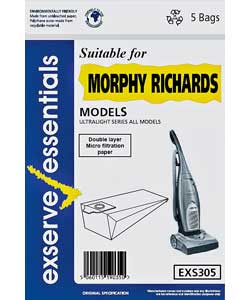 Morphy Richards EXS305 Bags - 5 Pack