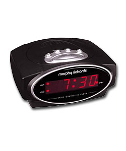 MORPHY RICHARDS Radio Controlled LED Alarm Clock