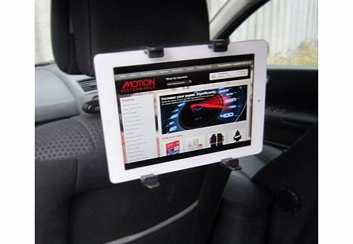 Black Interior In Car Tilt amp; Rotate All Apple IPad, DVD amp; Tablet Headrest Mount Stand Holder - NEW 2013 PRODUCT
