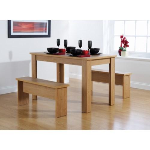 oak dining room sets : mountrose chicago bench dining set in oak from www.comparestoreprices.co.uk size 500 x 500 jpeg 30kB