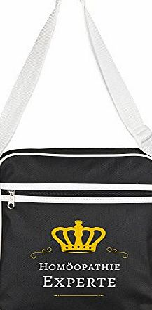 Multifanshop Retro Shoulder Bag Homeopathy Expert Black