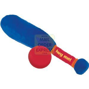 Mumbo Jumbo Toys Huggy Sport Cricket Bat and Ball Set