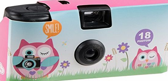 My Doodles Fun Childrens Character Disposable Photograph Camera with 18 Exposures - Owl