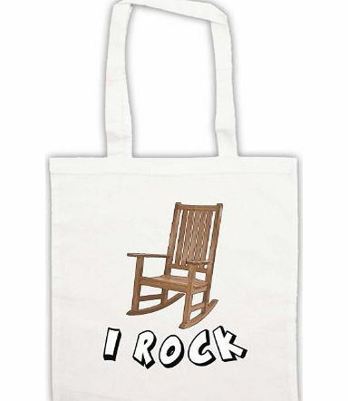 My Icon Art & Clothing I Rock Rocking Chair Tote Bag, White product image