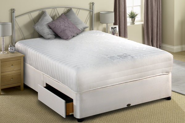 Divan bed luxury 6ft super king size including mattress for King size divan bed sale