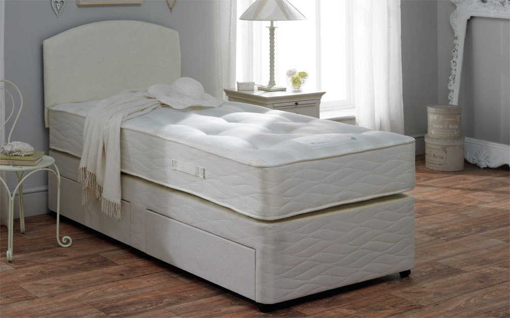 Myers divan beds for Single two drawer divan bed
