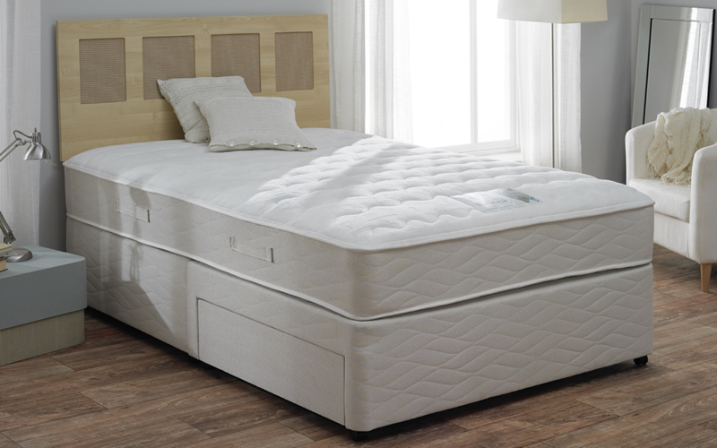 Tranquility beds midas memory foam double divan bed bed for Memory foam double divan bed sale