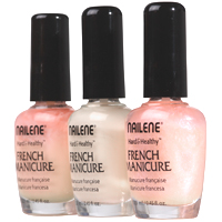 French Manicure Peach