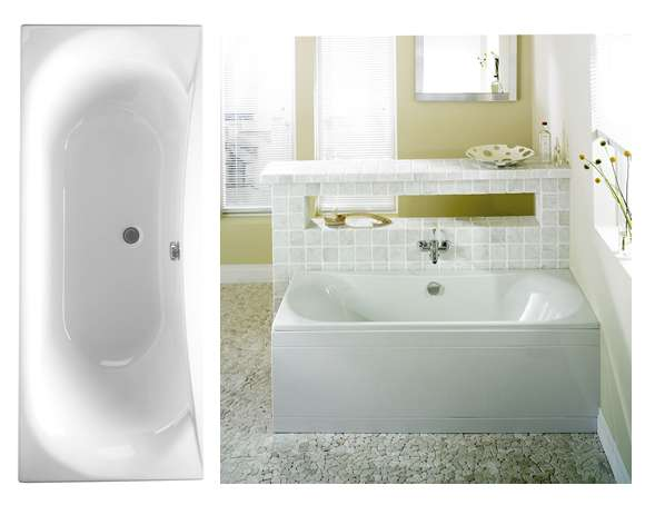 Double Ended Acrylic Bath 1700x700mm