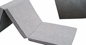 Natalia Spzoo Fold Out Guest Chair Z Bed Futon Folding Mattress 180x80x10 cm with cover bag Grey