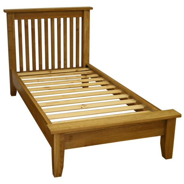 natasha Solid Oak King Size Bed Low End