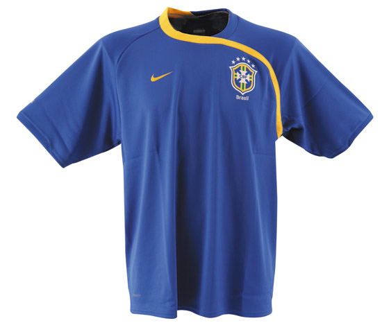 National teams Nike 08-09 Brazil Training Jersey (blue ...
