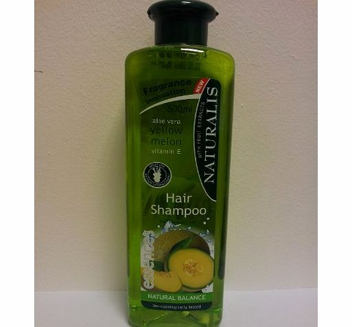 Naturalis 500ml Natural Balance Fruit Shampoo With Aloe Vera - Yellow Melon - Vitamin E