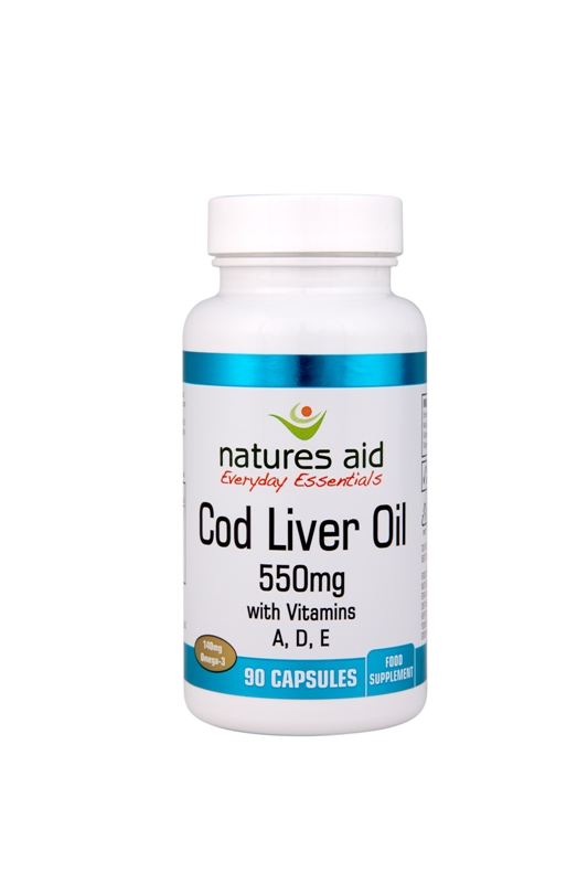 Cod Liver Oil - 550mg. 90 Capsules.