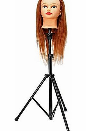 Neverland Adjustable Stainless Steel Tripod Stand Mannequin Holder for Training Head (with Bag)