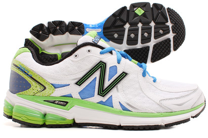 780 V2 Mens Running Shoes White/Green/Blue