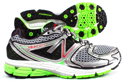 860 V3 Mens Running Shoes Silver/Green/Black