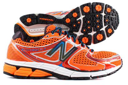 860 V3 Wide Fit 2E Running Shoes Orange/Silver