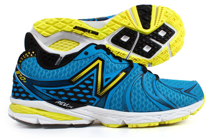 870 V2 Wide Fit 2E Running Shoes Blue/Yellow