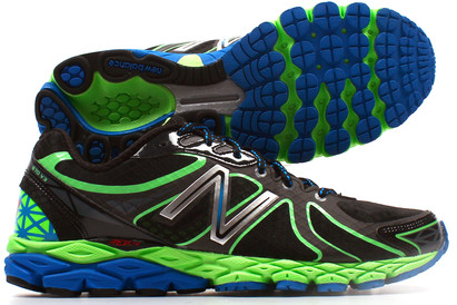 870 V3 D Mens Running Shoes Black/Green/Blue