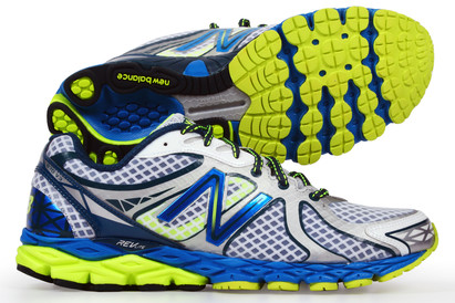 870 V3 D Mens Running Shoes White/Blue/Yellow