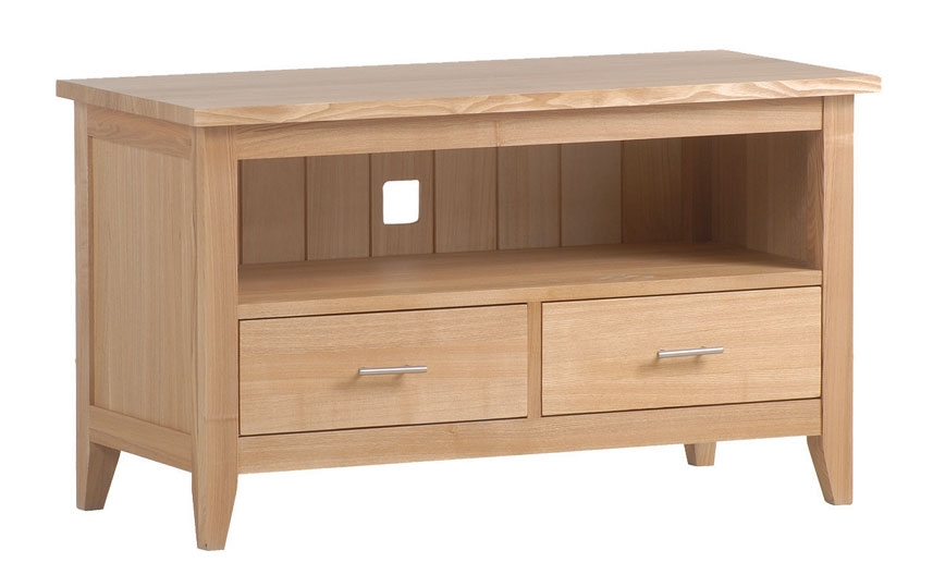 New England Ash Tv Unit With 2 Drawers Review Compare Prices Buy Online