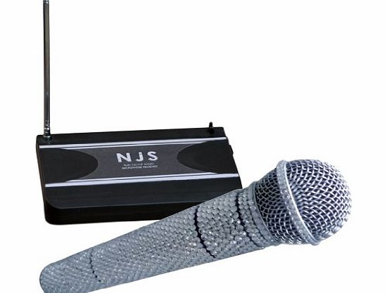 New Jersey Sound Corp Handheld Radio Microphone System Crystal Effect 174.1 MHz VHF Silver product image