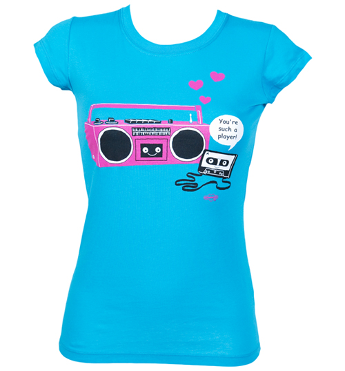 Newbreed Girl Ladies Player Ghetto Blaster T-Shirt from product image