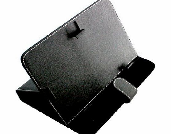 niceEshop (TM) Black Universal Synthetic Leather Folio Foldable Stand Carrying Case Cover For 9`` Inch Tablet PC eBook Reader product image
