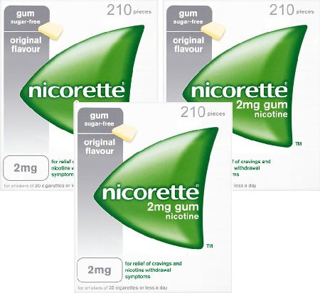 Nicorette, 2102[^]0104513 2mg Original Gum - 630 Pieces
