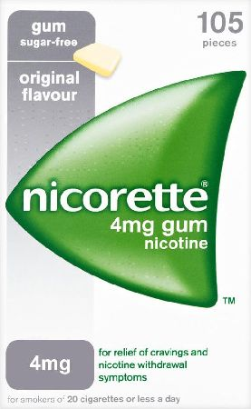 Nicorette, 2102[^]0104511 4mg Original Gum - 1050 Pieces
