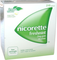 Nicorette Freshmint 2mg Gum 210 Pieces product image