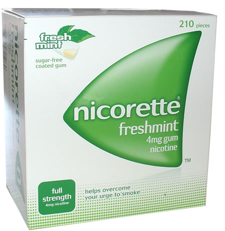 Nicorette Freshmint 4mg Gum 210 Pieces product image