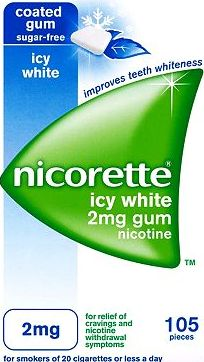 Nicorette, 2041[^]10087624 Icy White 2mg Gum - 105 pieces 10087624