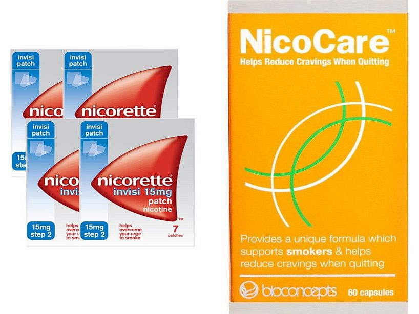 Invisi 15mg Patch Four Pack & NicoCare