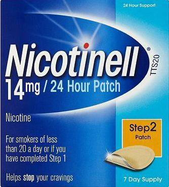 Nicotinell, 2041[^]10014309 24 Hour Patch 14mg Step 2 7 Day
