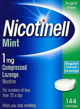 Nicotinell, 2041[^]10086628 Mint 1mg Lozenge - 144 lozenges