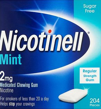 Nicotinell, 2041[^]10086620 Mint Medicated Chewing Gum 2mg - 204