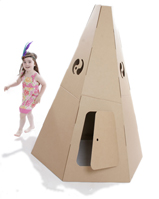 Nigel`s Eco Store Cardboard Teepee - great place for a pow wow product image