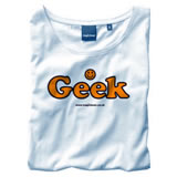 Nigel`s Eco Store Geek White Eco T-Shirt - light soft and silky product image