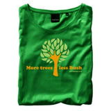 Nigel`s Eco Store More Trees Green Eco T-Shirt - light soft and product image